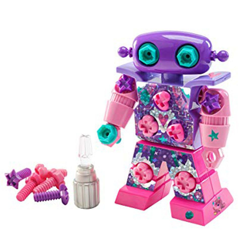 美國 Educational Insights - Design & Drill-粉紅搖滾機器人