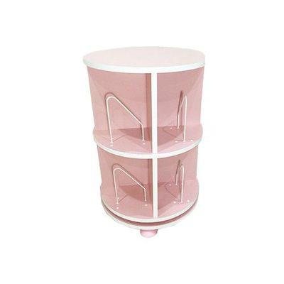 360° 旋轉書櫃-二層式-蜜桃粉-支架8入+水平儀4入