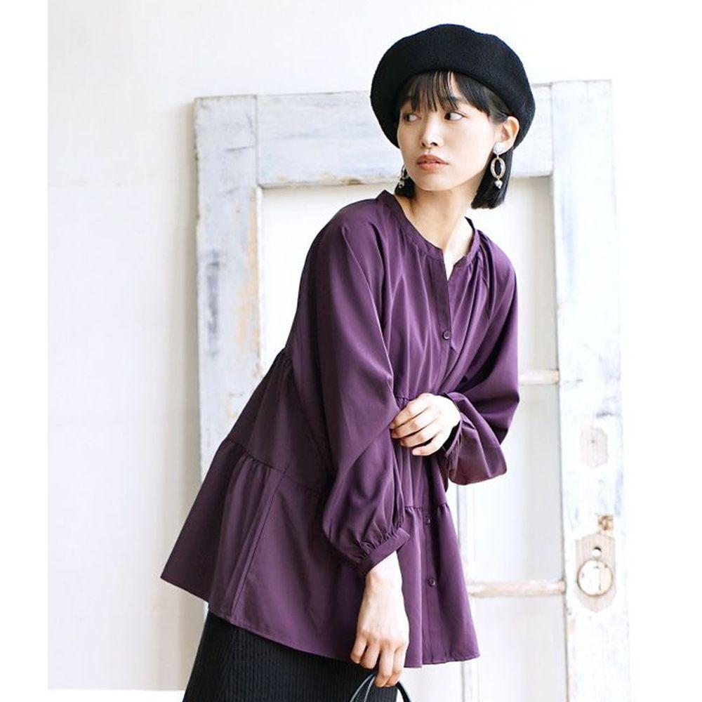 日本 zootie - 浪漫蛋糕澎澎長袖上衣-紫