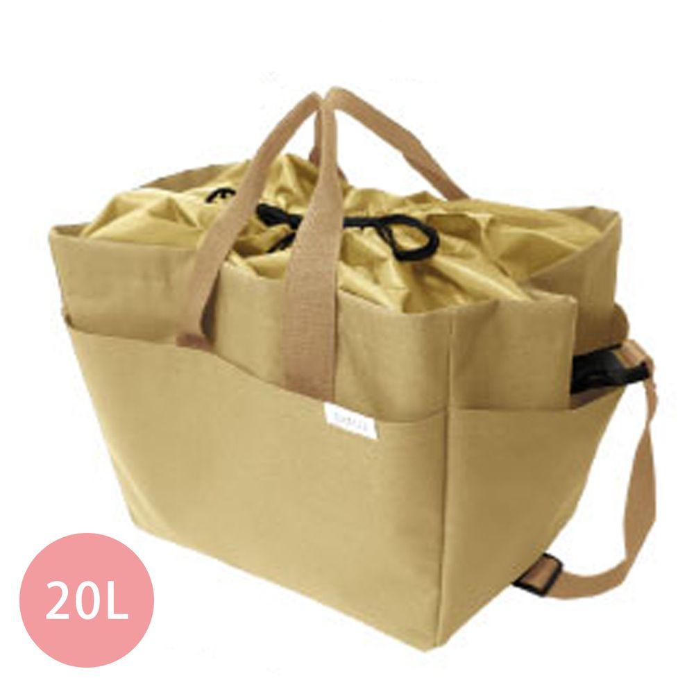 日本 Big Bee - 保冷購物袋(可裝購物籃)-杏-20L