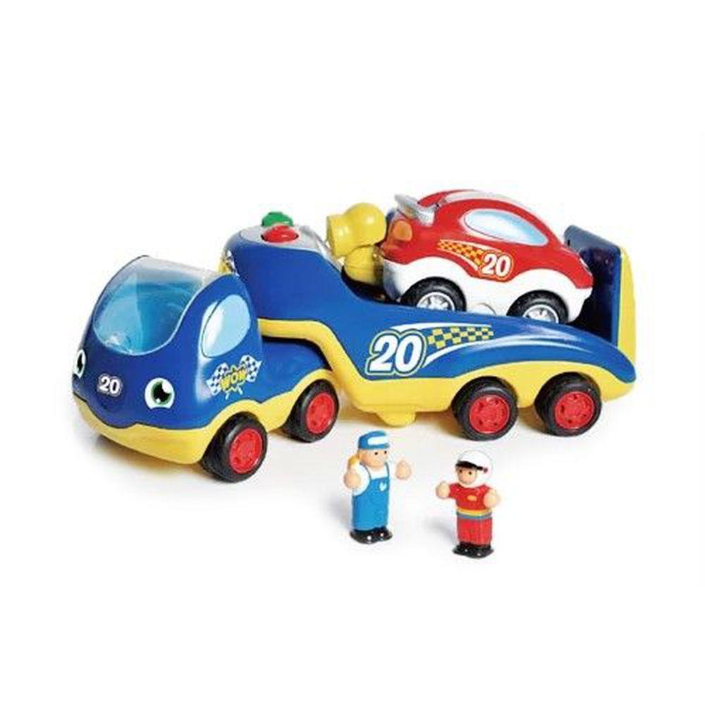 英國驚奇玩具 WOW Toys - 賽車救援拖吊車 洛可