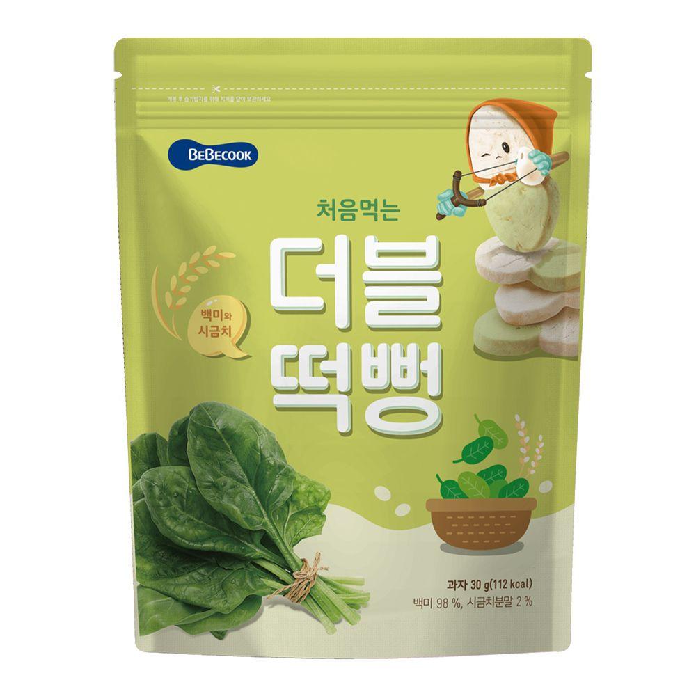 BEBECOOK 寶膳 - 嬰幼兒雙色初食綿綿米餅-白米菠菜