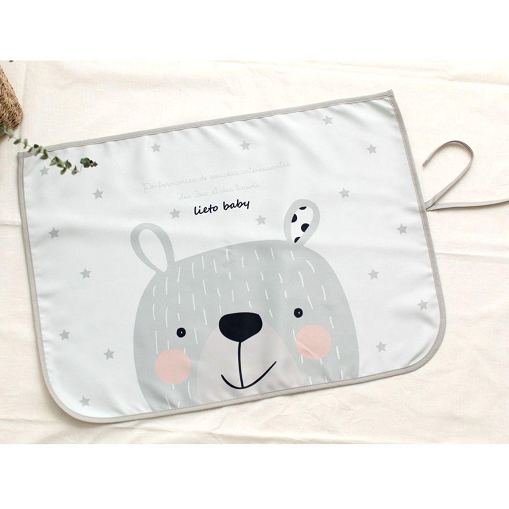 韓國 Lieto baby - 磁鐵式三層抗UV遮陽窗簾-星星大熊 (67*48cm)