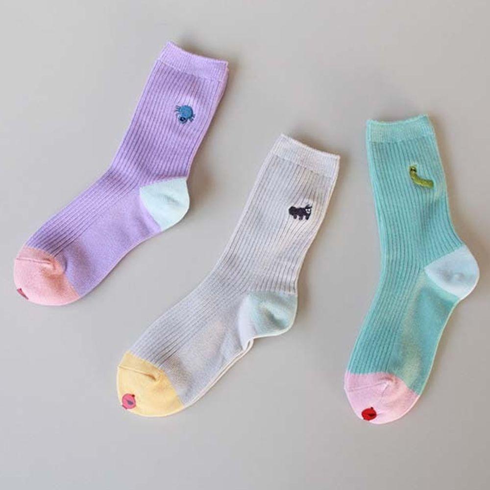 韓國 Kokacharm - 韓國製踝襪-三件組-Bugs Socks