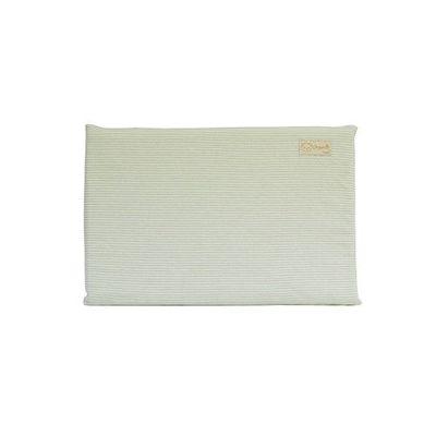 有機棉嬰兒乳膠平枕-經典條紋系列-自然綠 (44x30x2.5cm)-3個月起