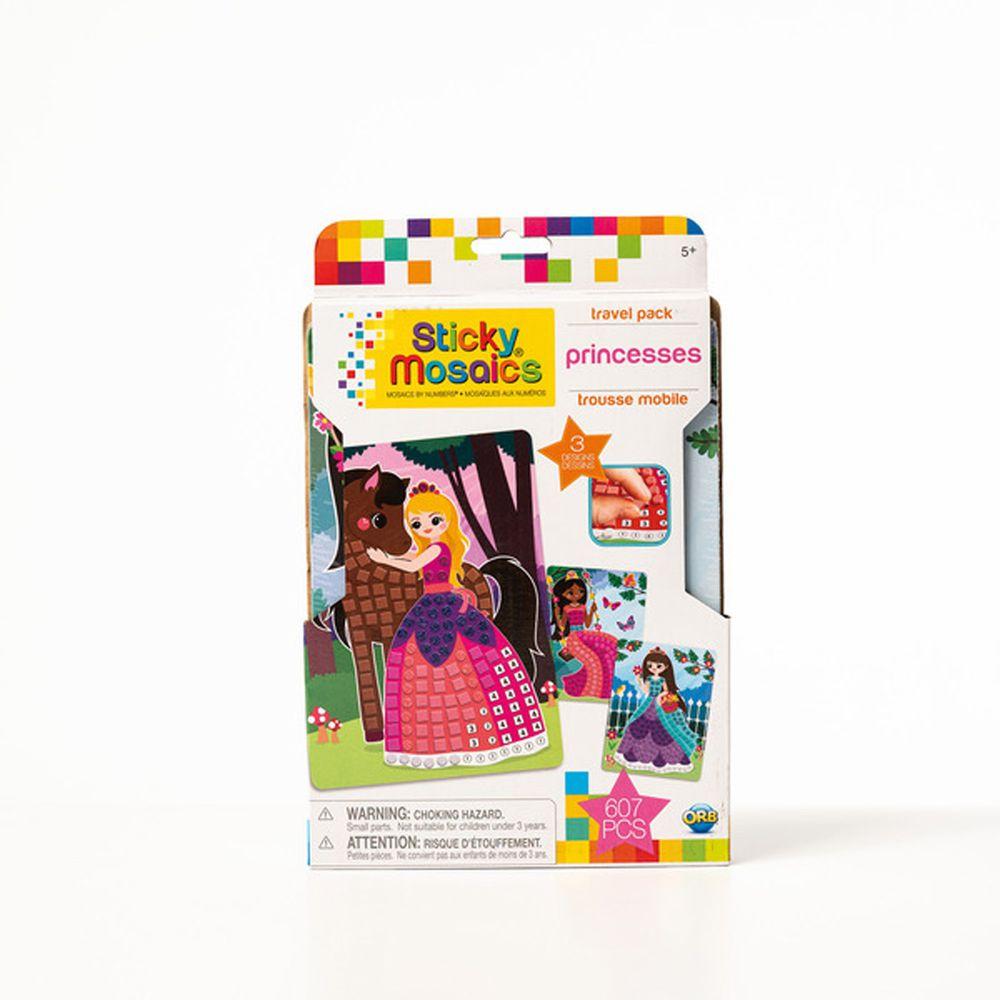 加拿大 Sticky Mosaics - 馬賽克拼貼旅遊包-公主-607 pcs