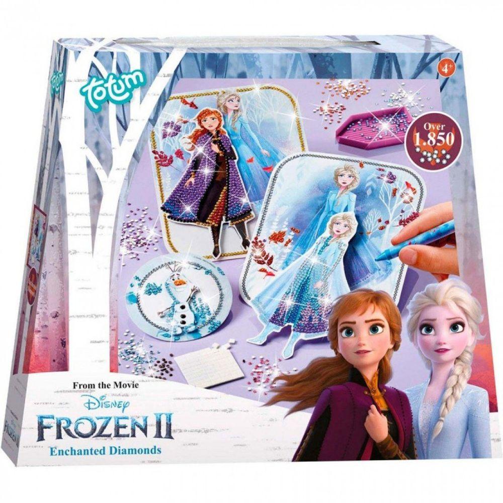Disney 迪士尼 - 【新品】《 Disney 迪士尼 公主 》冰雪奇緣迷你手作系列-鑽貼畫組