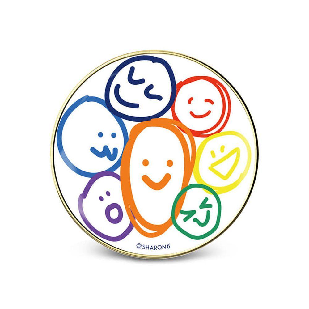 韓國 SHARON6 - 手機氣囊支架-鑲金款-彩虹表情