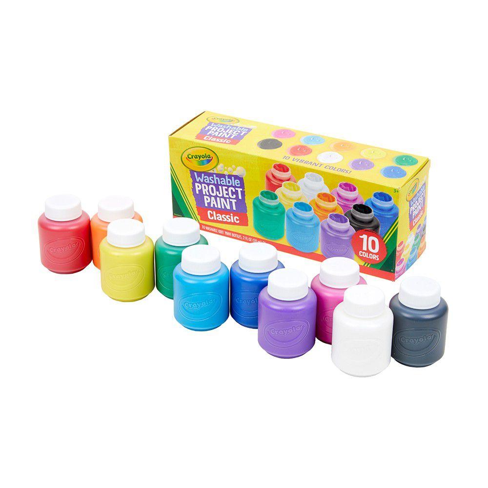 Crayola繪兒樂 - 可水洗兒童顏料2盎司10色