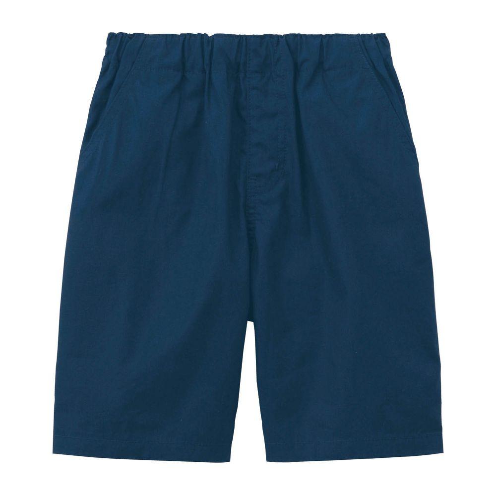 日本千趣會 - GITA 純棉接觸冷感五分褲-深藍