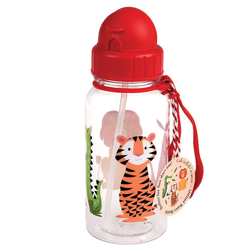 英國 Rex London - 兒童吸管水瓶-萬獸之王(500ML)