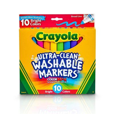 可水洗粗錐頭彩色筆明亮色10色