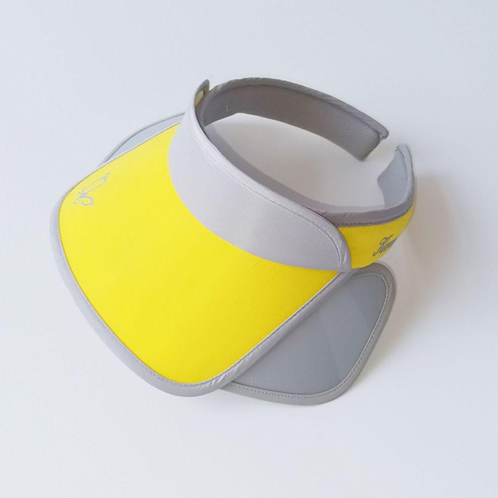 兒童大帽沿空頂遮陽帽-蝴蝶-黃色 (50-53cm)