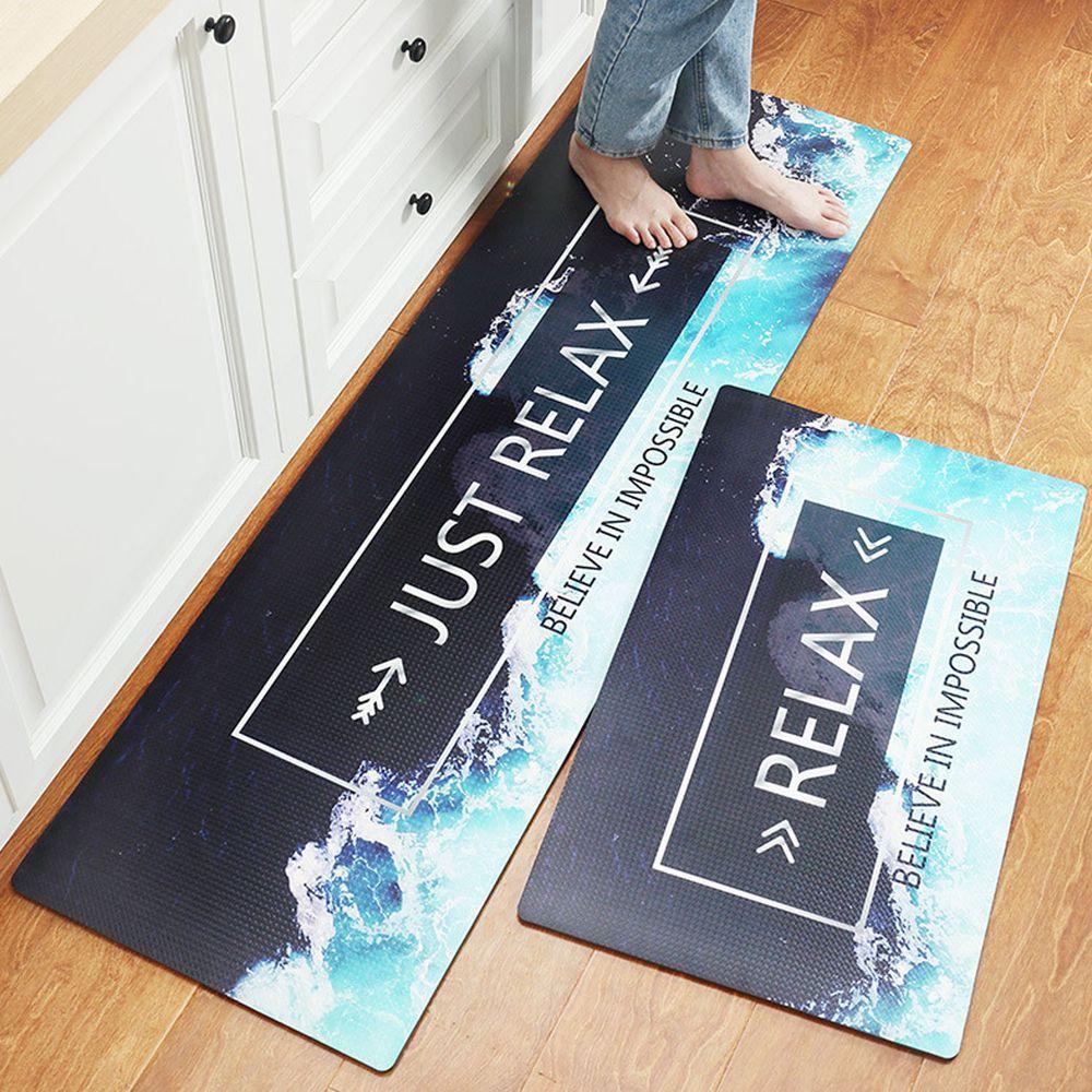 廚房仿皮革PVC防水腳踏墊-relax海岸