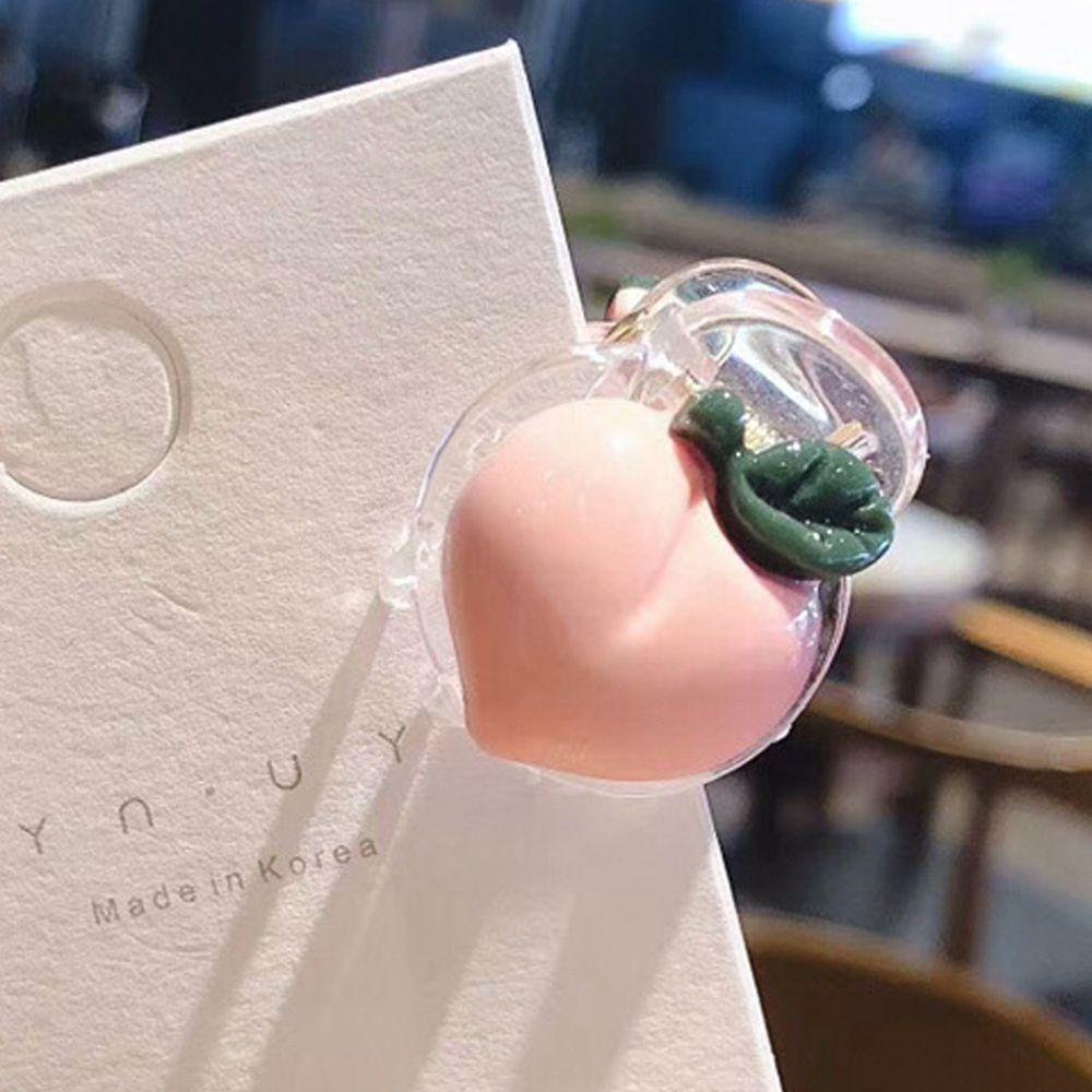 透明蔬果小抓夾-水蜜桃