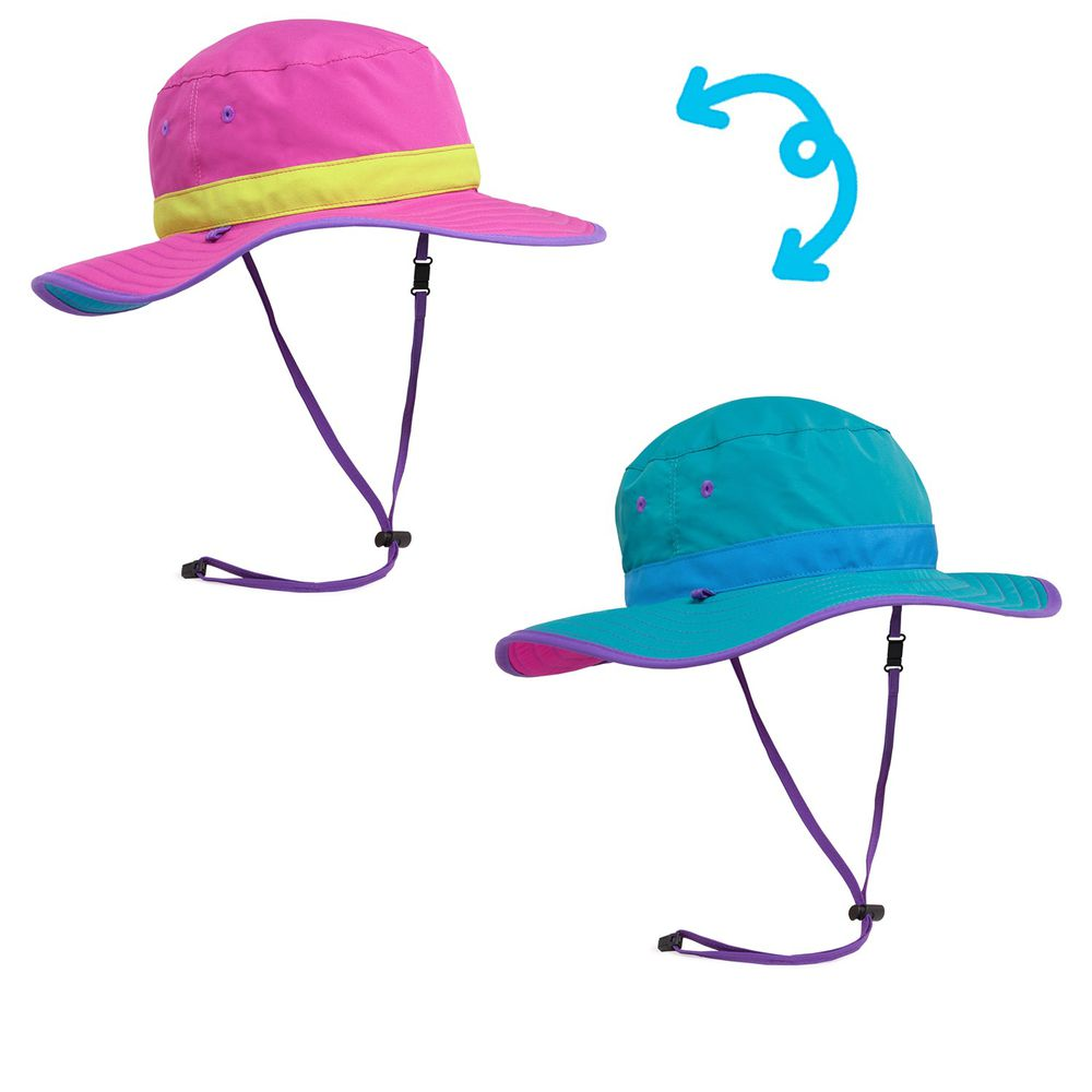 Sunday Afternoons - 兒童防曬帽-兒童抗UV雙面圓盤帽Kids Clear Creek Boonie-洋紅 Vivid Magenta