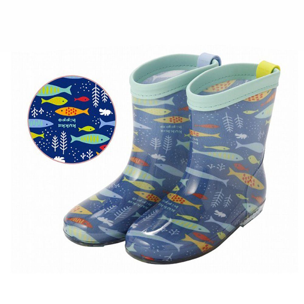 日本 kukka hippo - 小童雨鞋-海洋世界