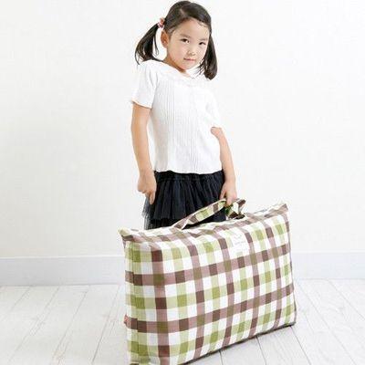 防水睡袋收納袋-經典格紋-綠