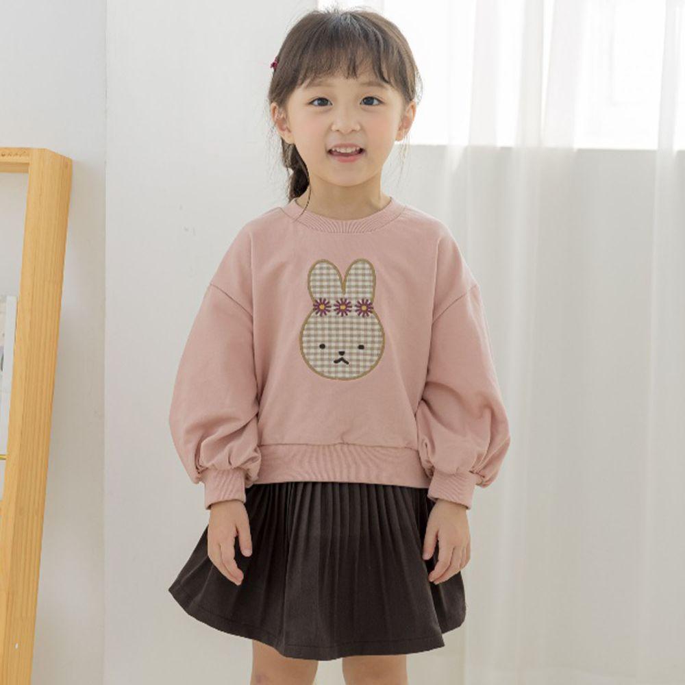 韓國 Orange Mom - (現省$50)可愛兔兔套裝-淺杏上衣X粉紫裙