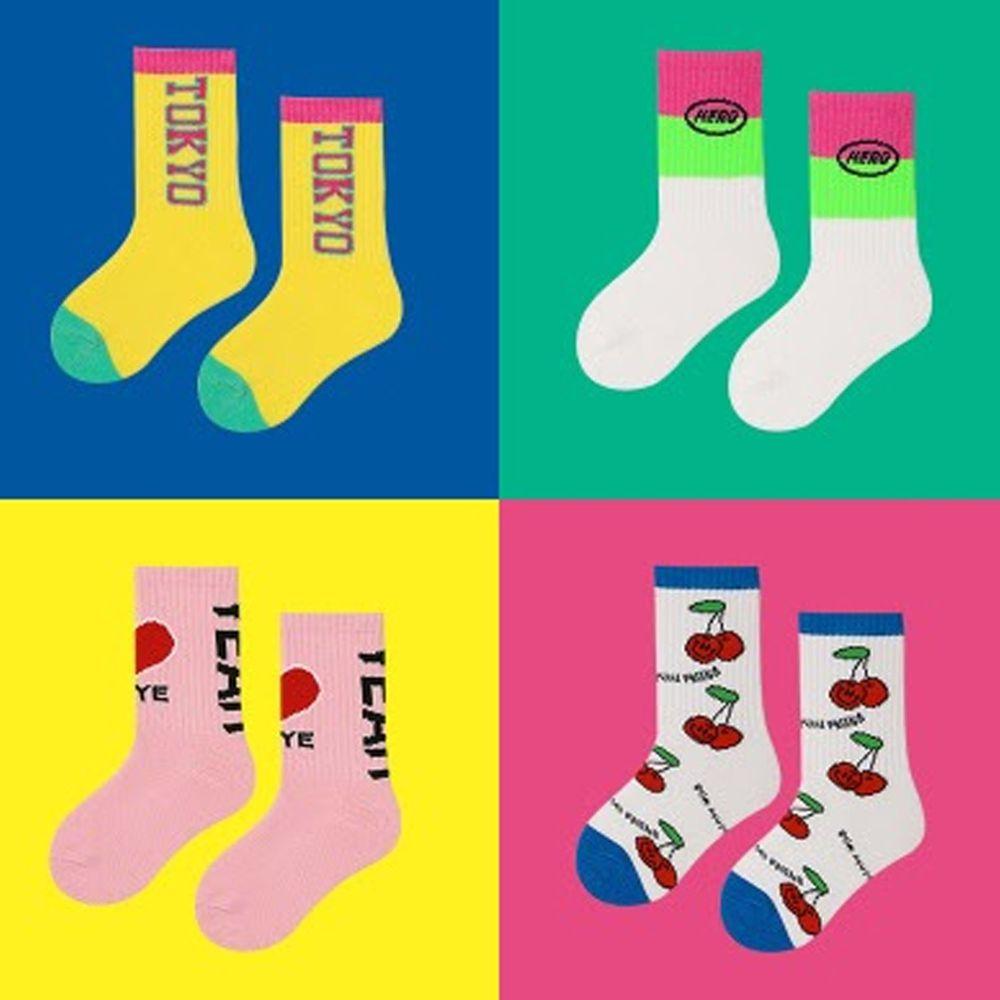 兒童潮襪 (四入一組)-Z234