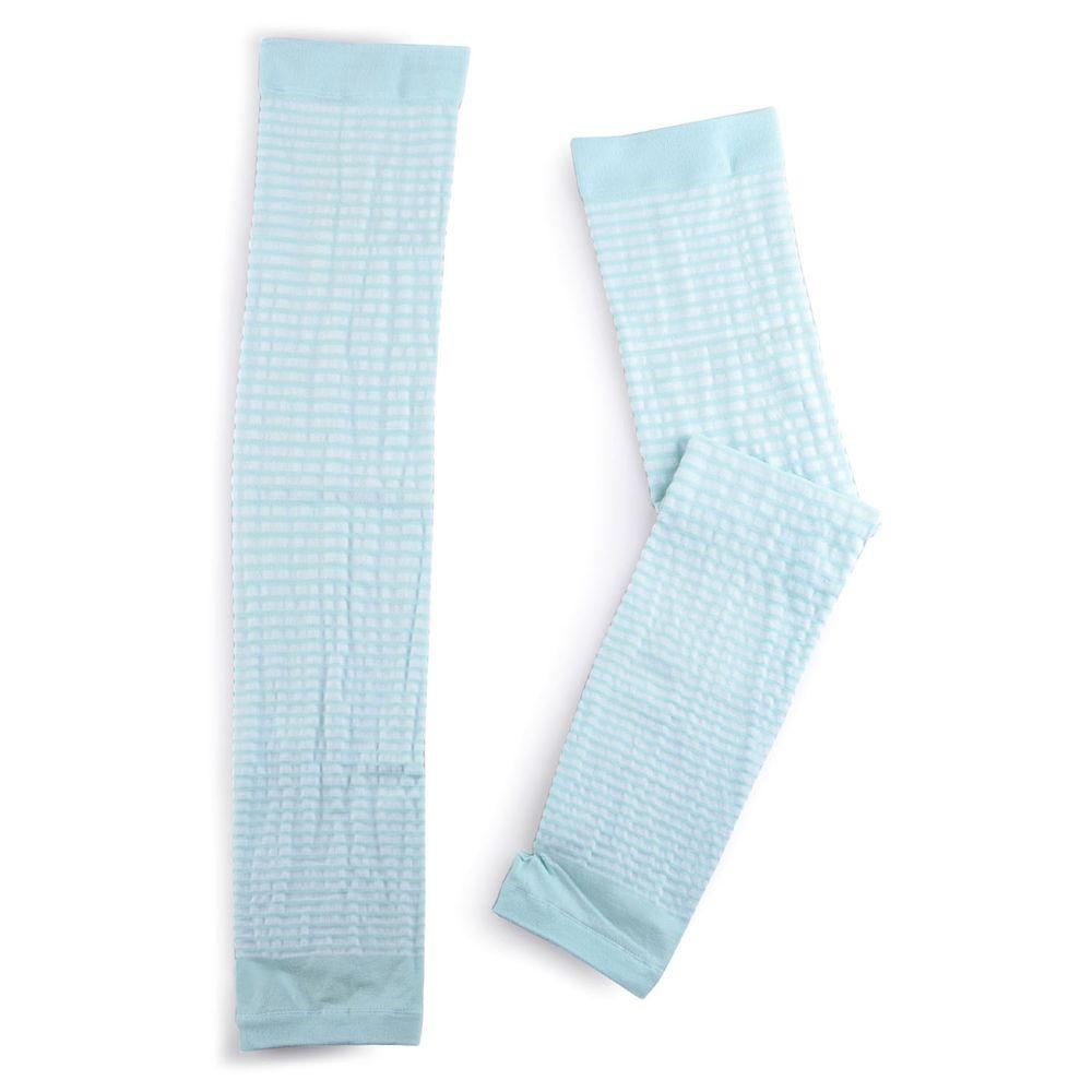 貝柔 Peilou - 兒童高效涼感防蚊抗UV袖套-親子條紋-綠