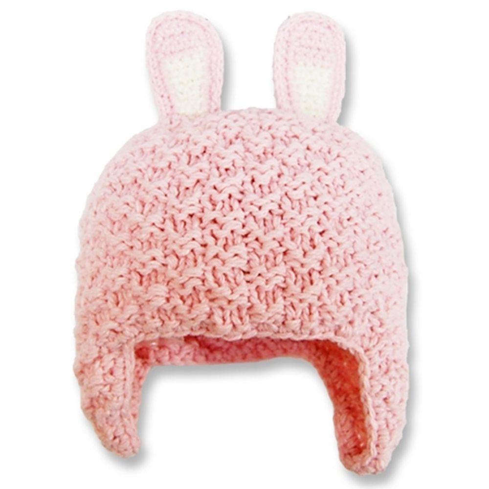 日本 Connect M - 可愛造型冬帽-小童款-粉紅免耳 (Free size(46~50cm))-83-6002
