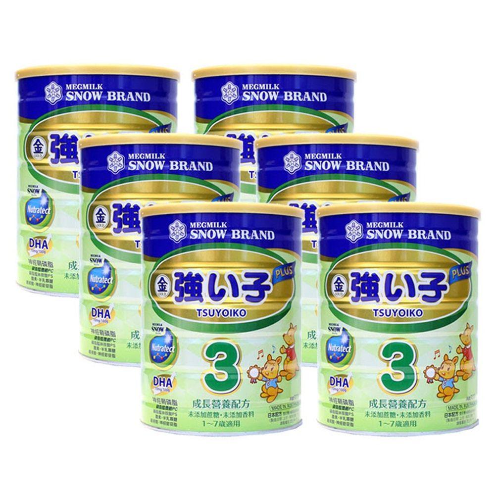 雪印 - 金強子3 PLUS成長營養配方900gX6罐