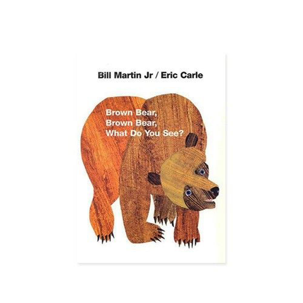 麥克兒童外文書店 - 有聲書-BROWN BEAR WHAT DO YOU SEE/平裝繪本+CD