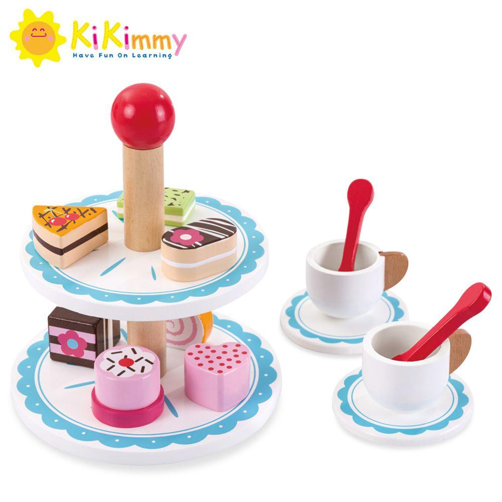 Kikimmy - 【新品】法式下午茶木製玩具組-15.5x15.5x18cm