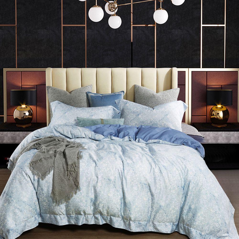 PureOne - 吸濕排汗天絲加大四件式床包鋪棉被套組-立陶宛 (180x186cm ±5%)-含床包+鋪棉兩用被套+枕套*2