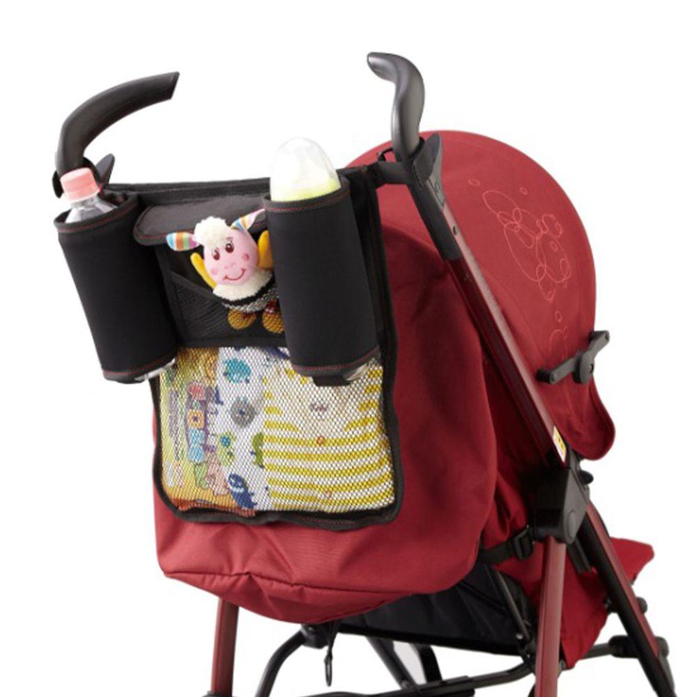 akachan honpo - 嬰兒推車置物袋-黑色