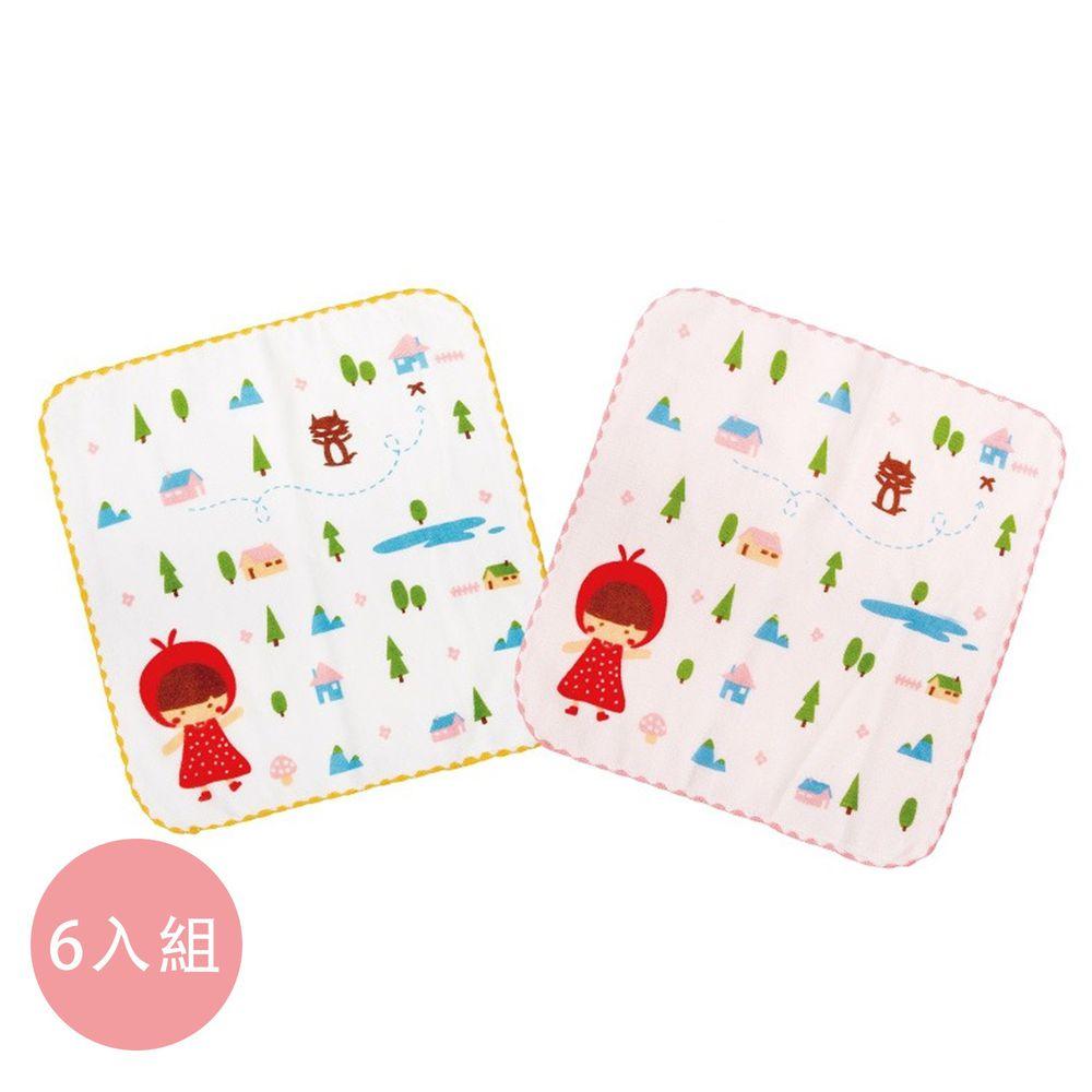 貝柔 Peilou - 童話抗菌紗布小方巾6入組-小紅帽 (26x26cm)