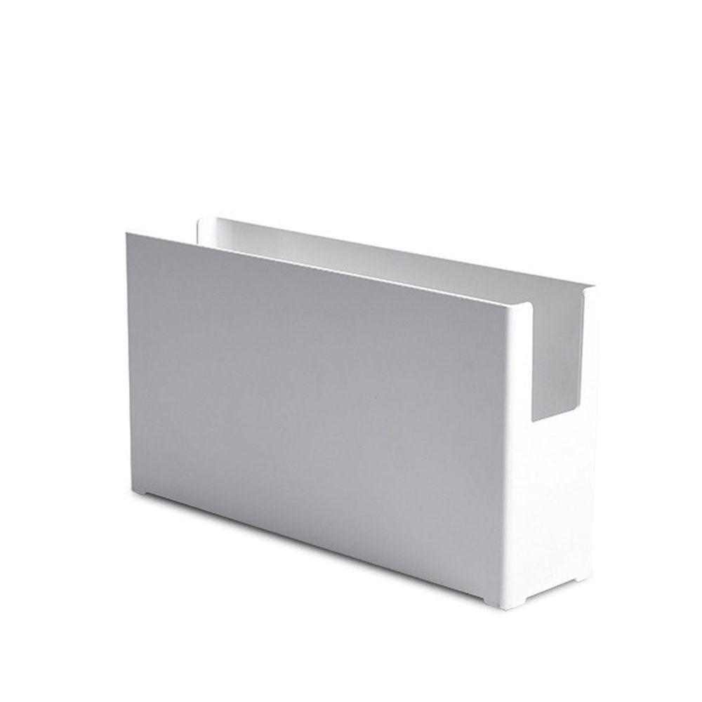 凹型多功能可堆疊收納盒-窄版大號 (28x7x15cm)-附卡扣便籤