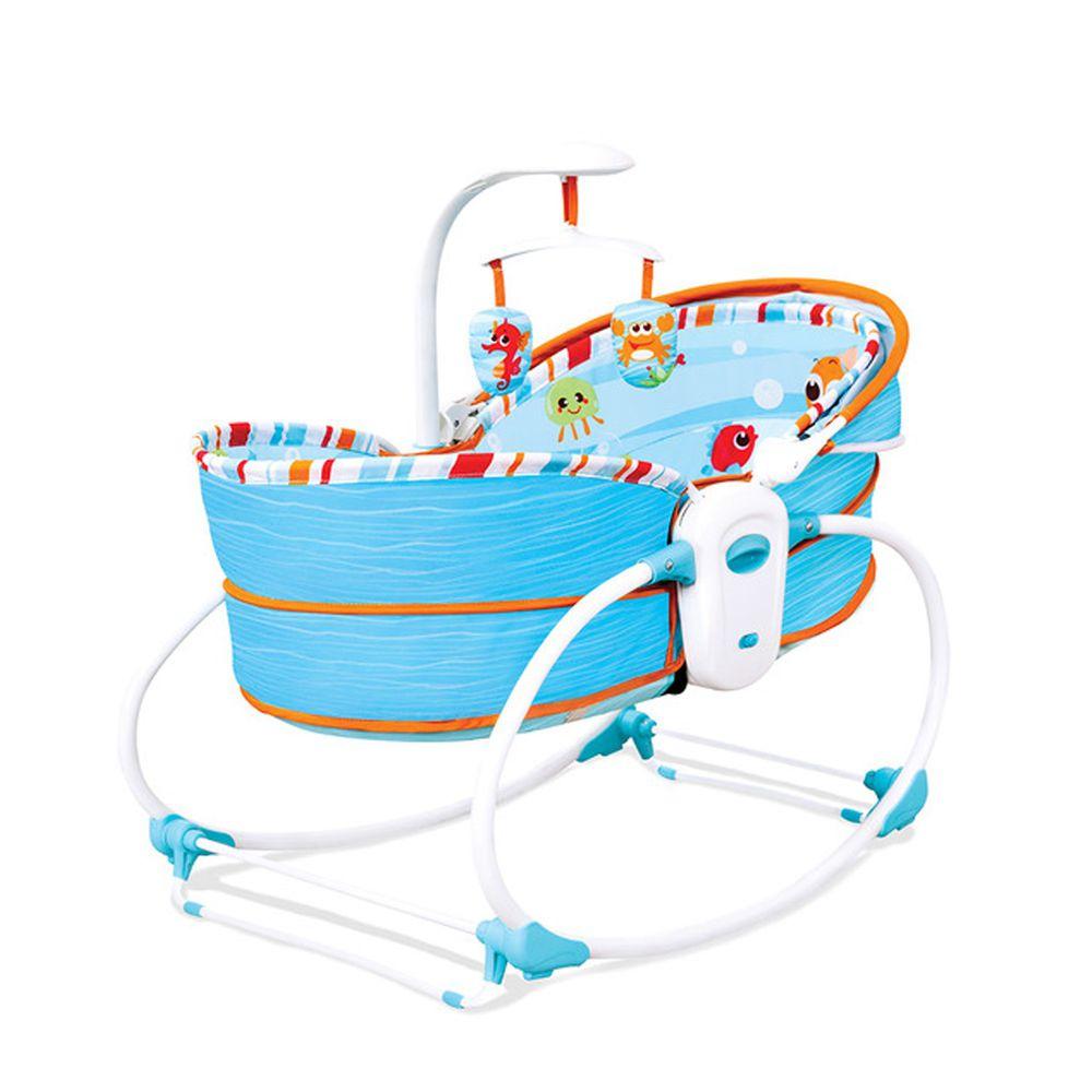 KOOMA - 5in1 睡箱式搖椅/搖床-海洋藍