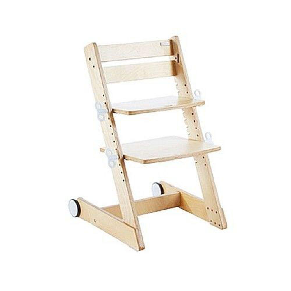 大將作 kid2youth - Qmomo 兒童成長餐椅(附輪) 單椅-白樺木