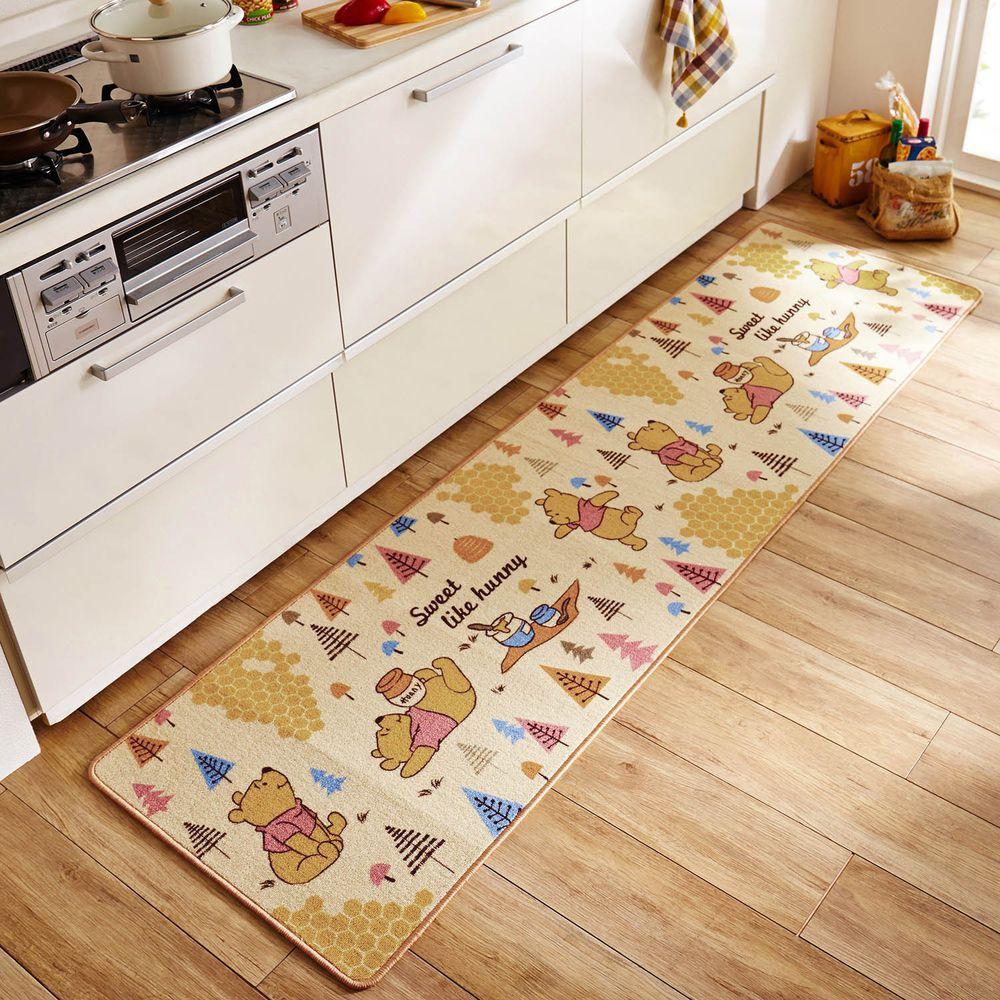 日本千趣會 - 迪士尼 長條型腳踏墊(廚房/臥室)-小熊維尼