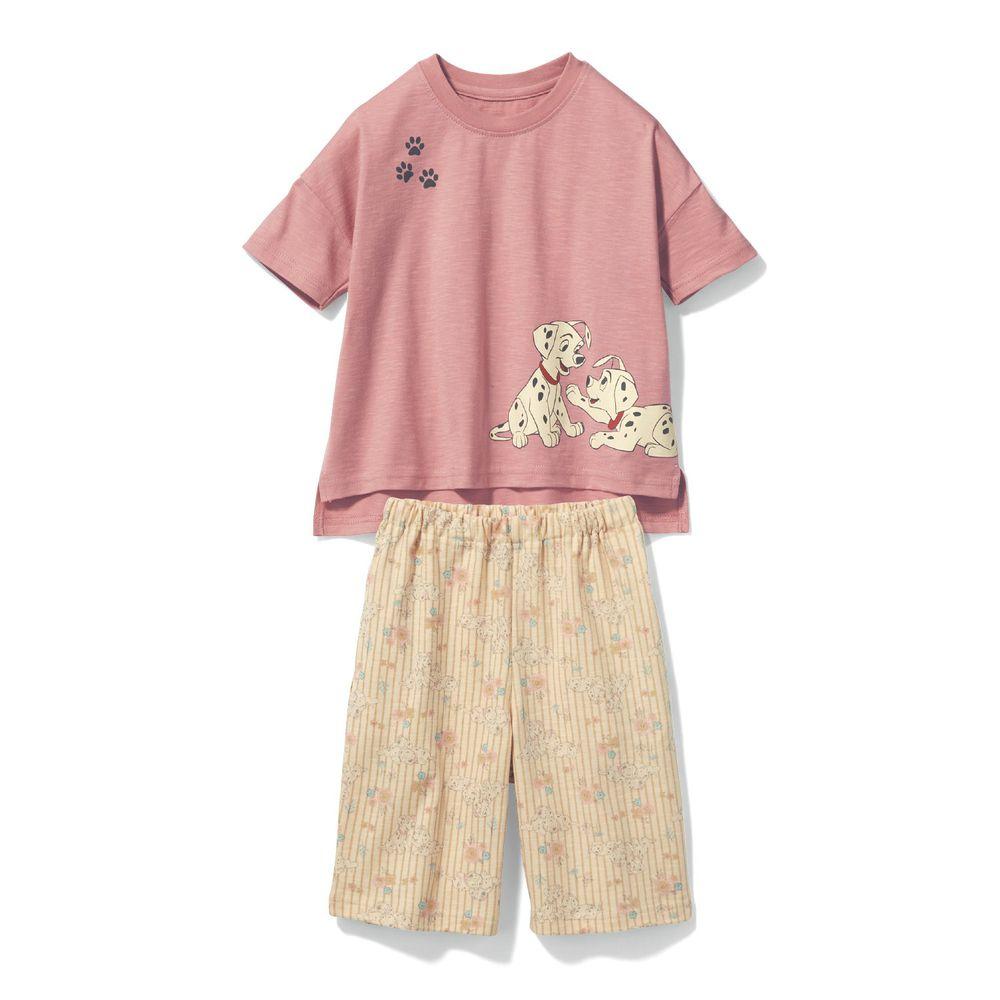日本千趣會 - 迪士尼純棉印花短袖家居服-101忠狗-粉米