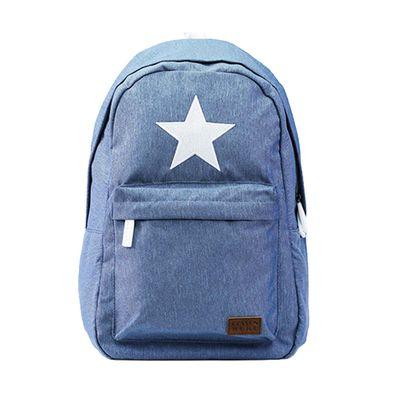 星星親子媽媽包-淺藍色
