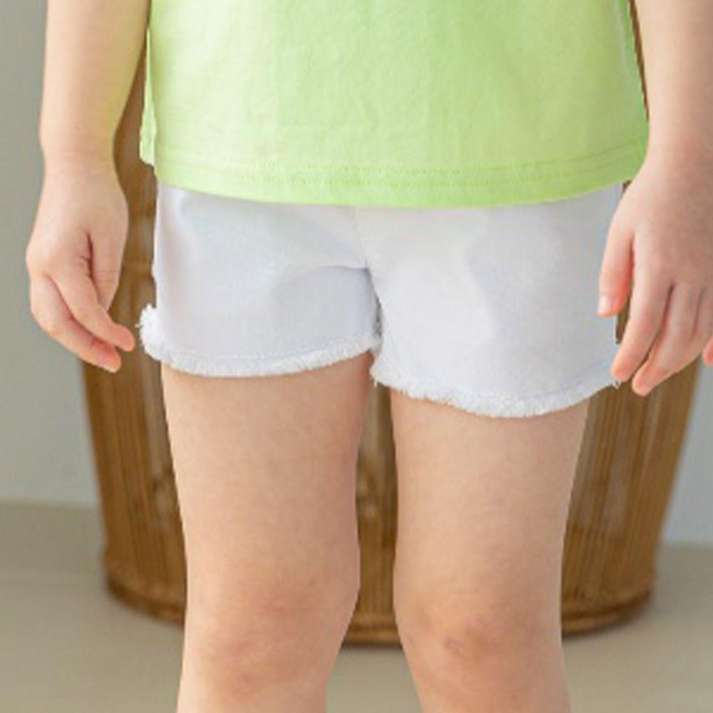 韓國 Orange Mom - 馬卡龍抓鬚短褲-象牙白