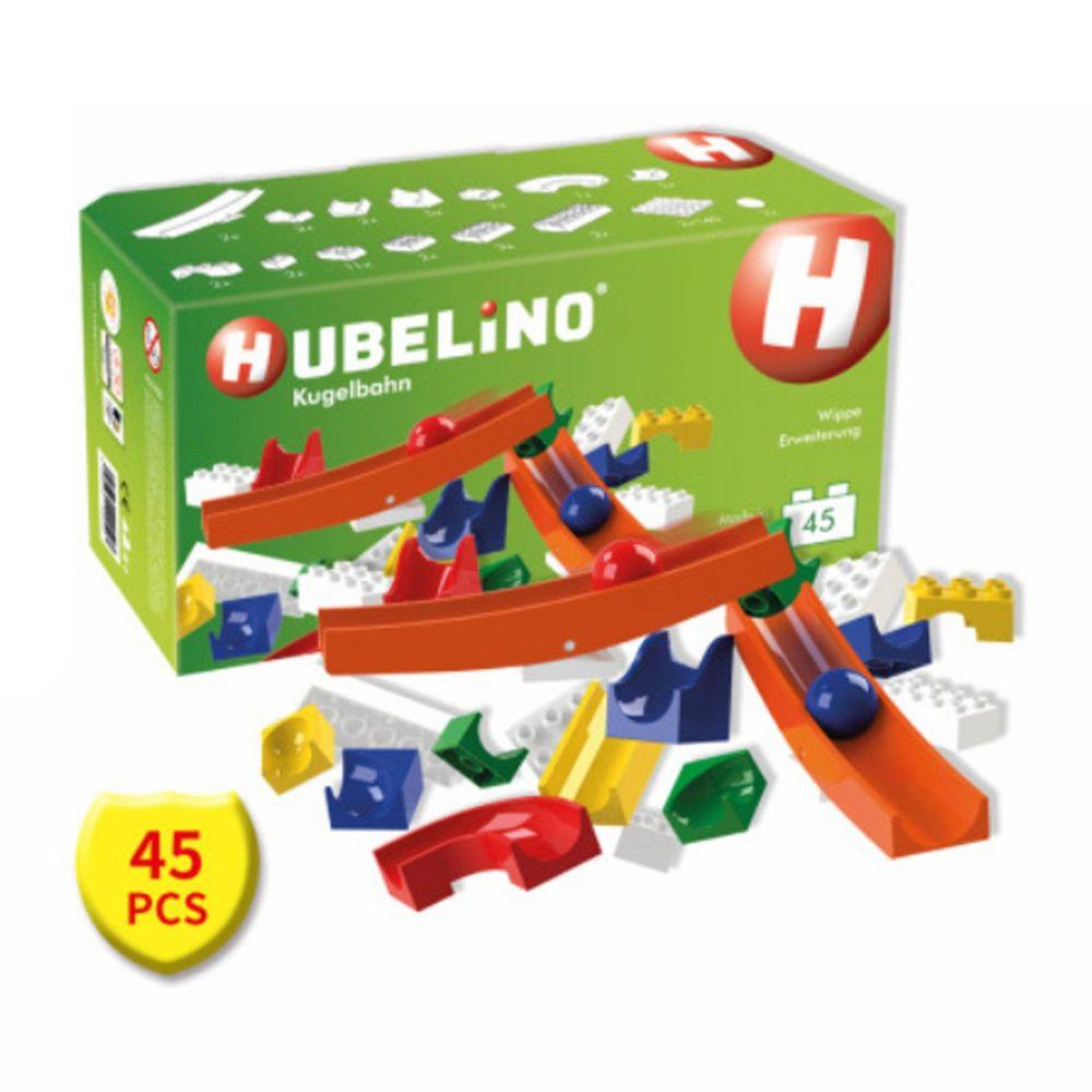 德國 HUBELiNO - 軌道式積木套件組合 - 45PCS-(含翹翹板配件)