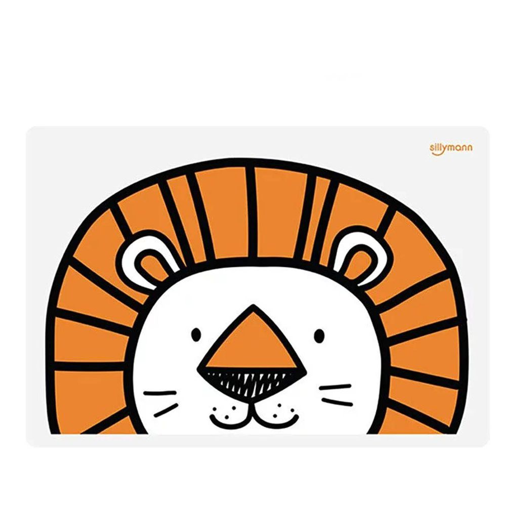 韓國 sillymann - 100%鉑金矽膠可愛寶貝兒童餐墊(獅子)-獅子