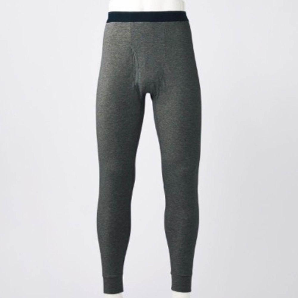 日本千趣會 - 95%棉 (爸爸)十分丈發熱褲-深灰