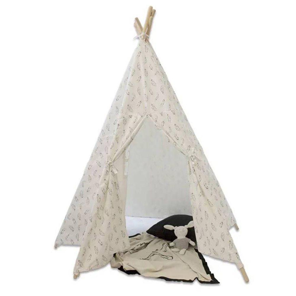 澳洲 BubbaBlue - 有機棉印地安帳篷-羽毛款