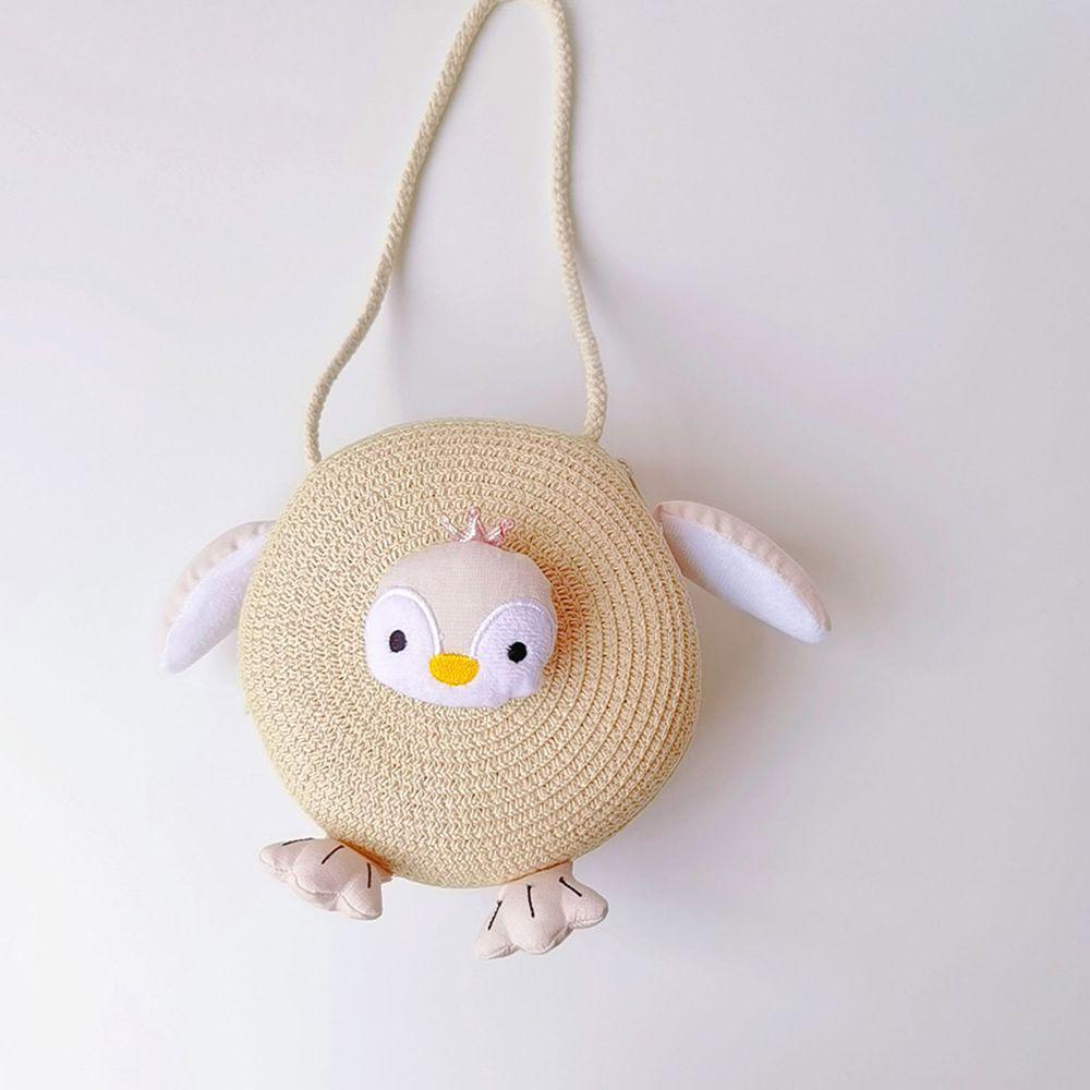 兒童造型編織包-米色 (17x17cm)