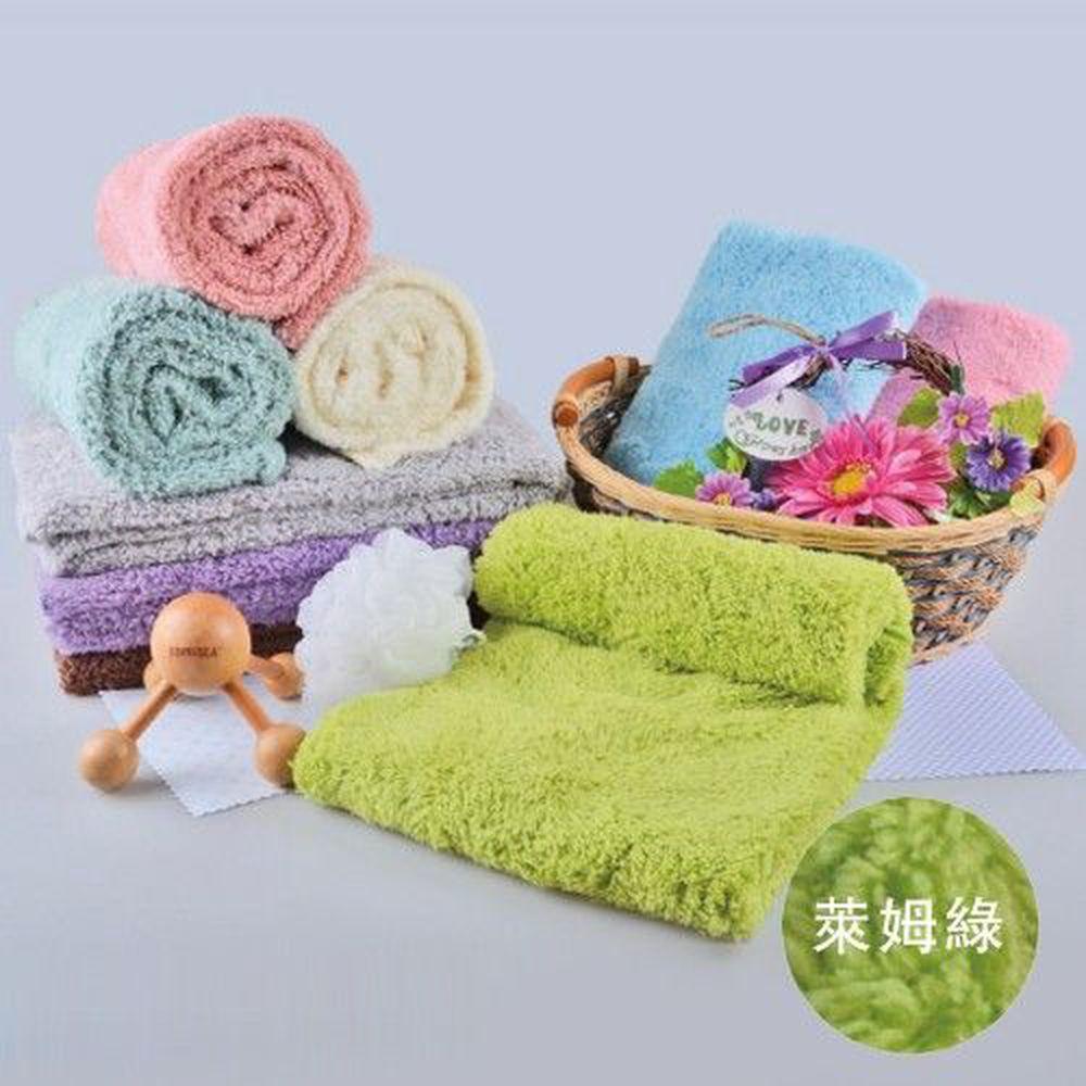 貝柔 Peilou - 超強十倍吸水超細纖維抗菌大毛巾/枕巾-萊姆綠 (50x90cm)