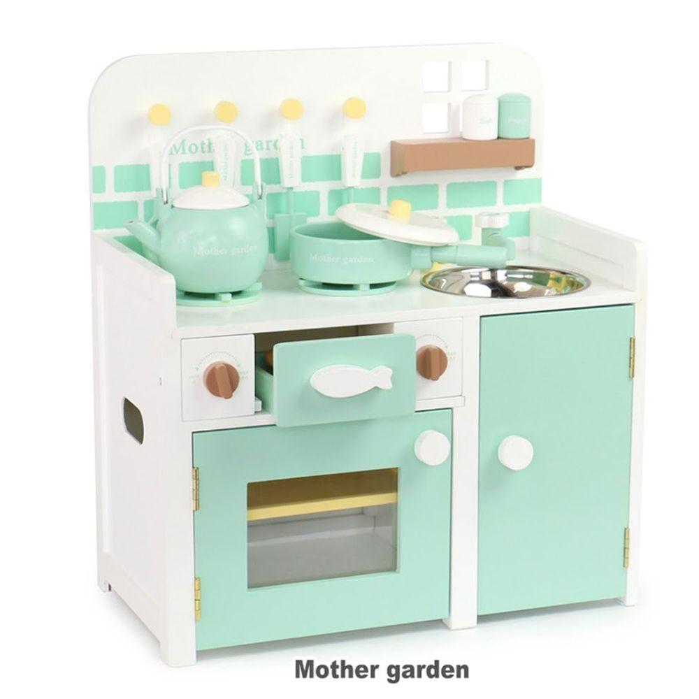 Mother Garden - 日本【Mother Garden】廚具-廚房組 薄荷綠