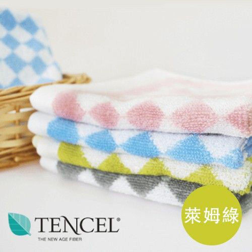貝柔 Peilou - 天絲棉柔舒抑菌方巾3入-萊姆綠 (33x34cm)