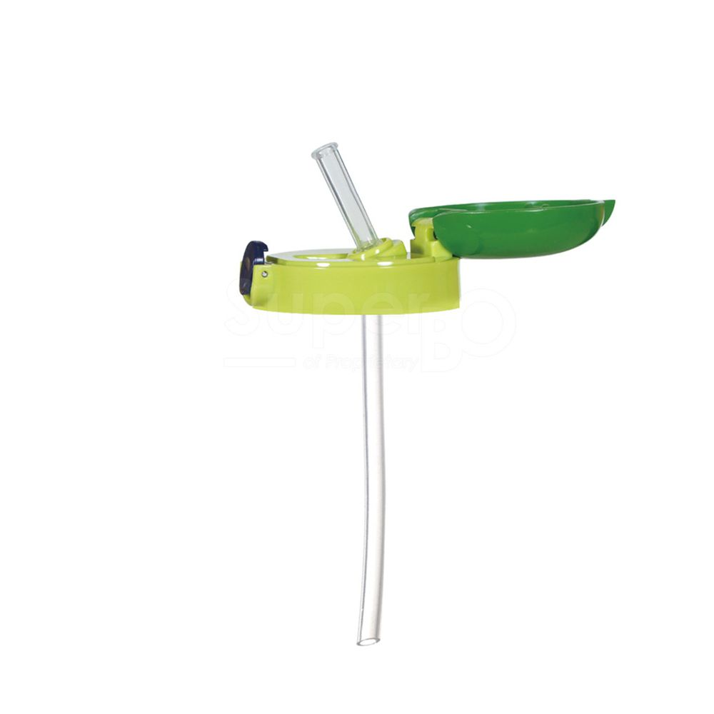 日本 SKATER - 寬底吸管杯(370ml)-上蓋組-綠