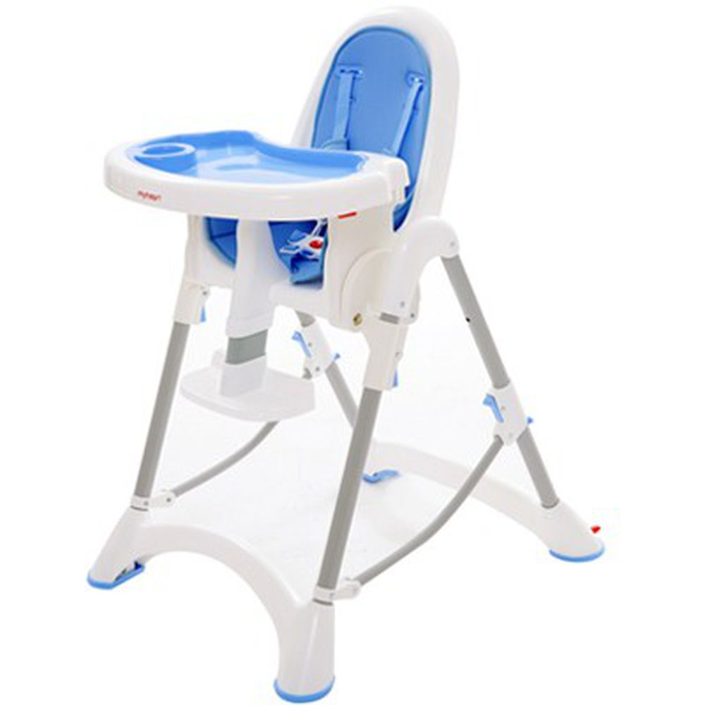 myheart - 折疊式安全兒童餐椅-天空藍