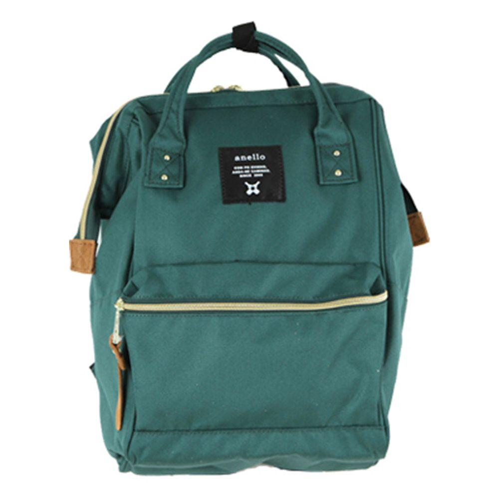 日本 Anello - 日本大開口牛津布後背包-mini小尺寸-DGR深綠